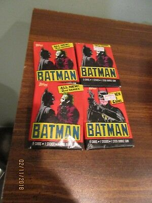 Batman 2nd Series Movie Trading Cards (Topps, 1989) (4) Wax Packs