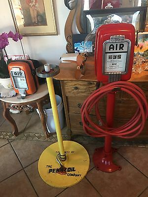 VINTAGE PENNZOIL LOLLIPOP POST & SIGN BASE/WIRED FOR ELECTRIC GLOBE /HEAVY 65Lbs
