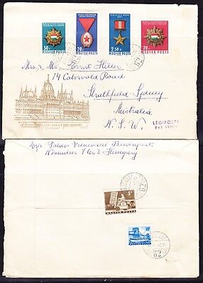 Hungary 1966 Medals & Orders First Day Cover to Australia + Back