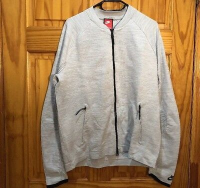 Men/'s Nike Sportswear Tech Knit Platinum White Jacket 832178 100 Size Small $250