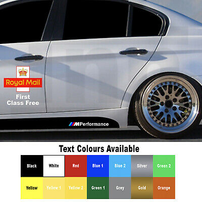 2 x BMW M Performance Power Side Skirt Sticker Decal Vinyl F30 F10 1 3 5 series