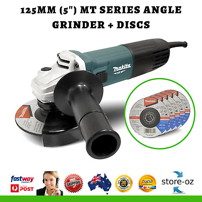 "Makita Angle Grinder 850W 5""/125mm MT Series Corded Angle Grinder M9511G + Disks"
