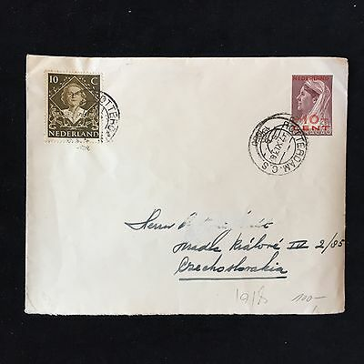 ZS-AC925 Curacao - netherlands, 1918 from Rotterdam to Tschechoslowakei cover
