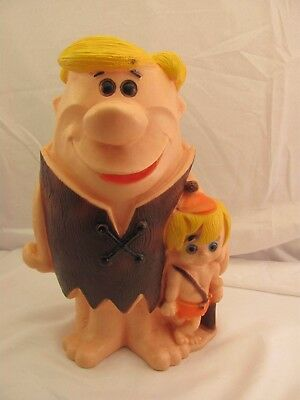 Barney Rubble and Bam Bam Large Coin Bank