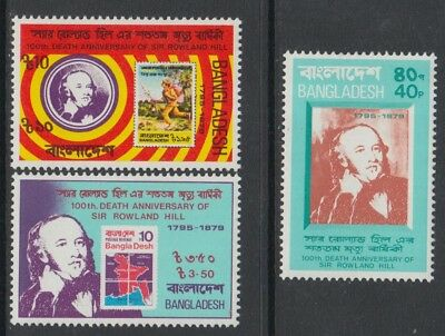 XG-K953 Bangladesch - Stempel on Stempel, 1979 Rowland Hill, 3 values MNH set