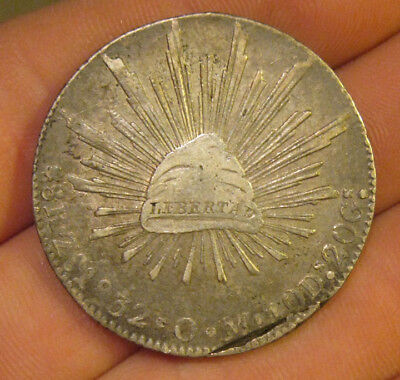 Mexico - 1832 ZsOM Large Silver 8 Reales
