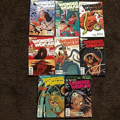 Wonder Woman (2011) 8 issue lot - #1 - 6, 15, 16 DC - New 52!