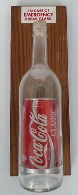 Vintage COCA COLA In Case of Emergency Break Glass Bar Pub Bottle Novelty Sign