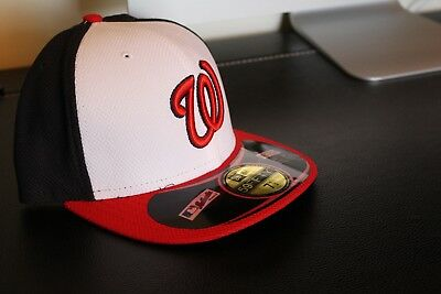 de43ee93 New Era Washington Nationals Navy/Red On Field Diamond Era 59FIFTY Fitted  Hat