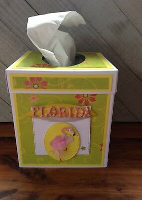 NeW FLoRiDa PiNK FLaMinGo HanDmAdE TiSSuE KLeeNeX BoX CoVeR