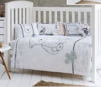 Classic Pooh By Adairs Kids Baby Cot Quilt Set Girls Boys White