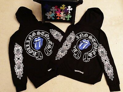 AUTHENTIC CHROME HEARTS*ROLLING stone dagger zip up HOODIE Very limit size m