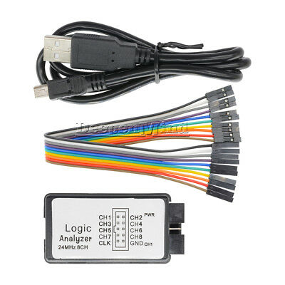 USB Logic Analyzer Device Set USB Cable 24MHz 8CH 24MHz for ARM FPGA M100 Top