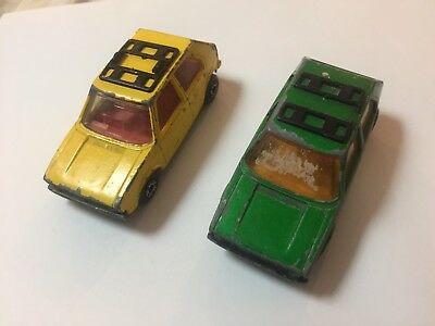 2 MATCHBOX SUPER FAST No 7 VW GOLF MADE IN ENGLAND BY LESNEY 1976