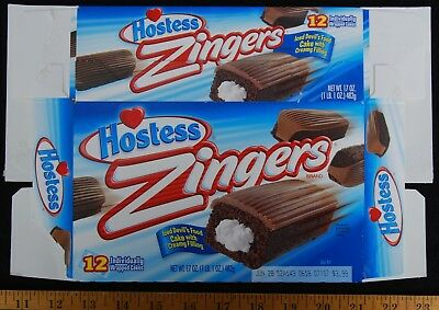 [ 2012 Hostess ZINGERS Snack Cakes Box - Prior To Hostess Twinkies Bankruptcy ]