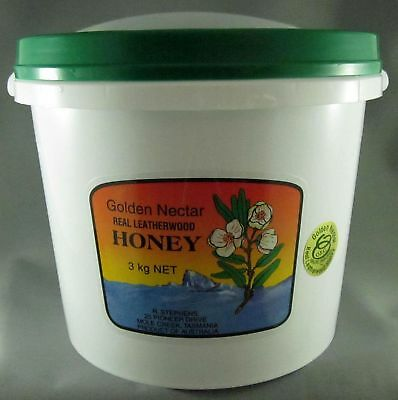 R Stephens Tasmanian organic leatherwood honey, 3kilo tub
