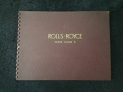 Rolls-Royce Silver Cloud II Standard Saloon Dealer Showroom Brochure SWB LWB OEM