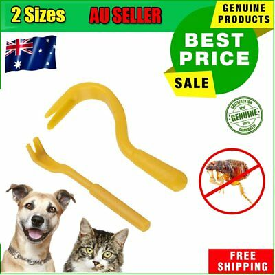 Pack x 2 Size Flea Treatment Remover Hook Tool Human/Dog/Pet/Horse/Cat Animal AU