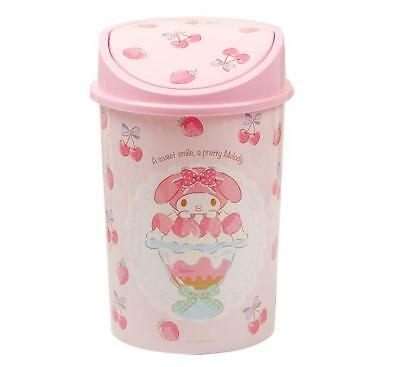 "Cute 12"" My Melody Bedroom Home Office Trash Can Waste Garbage Bin Wastebaskets"