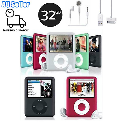 Mp4 32G iPod Style Music Player FM Radio Media Player Earphone & Cable Inc.