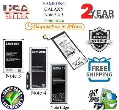 OEM Genuine Replacement Battery Samsung Galaxy Note 3 Note 4 Note 5 Note Edge