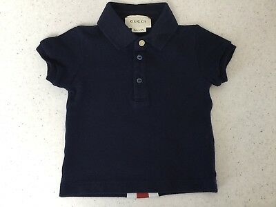 GUCCI - baby boy - navy polo shirt top - 3 - 6 months - Made in Italy- no 25