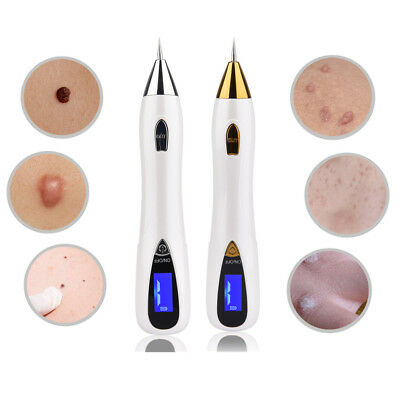 Electric LCD Laser Freckle Mole Warts Dot Tattoo Eraser Removal Pen For Age Spot
