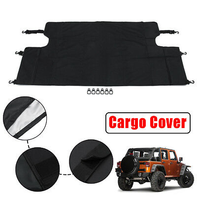 Rear Trunk Cargo Luggage Shade Cover For Jeep Wrangler JKU Sports 4 Doors  07-17