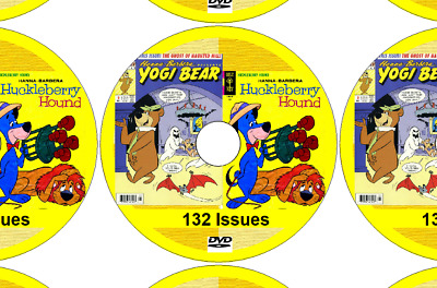 YOGI BEAR & HUCKLEBERRY HOUND - 132 Comics on DVD + reading software for PC