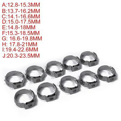 10x Adjustable 12.8-23.5mm Stainless Steel Drive Hose Clamp Fuel Line Worm Clip