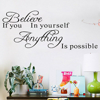 Family DIY Removable Art Vinyl Quote Wall Stickers Decal Mural Kids Decor s