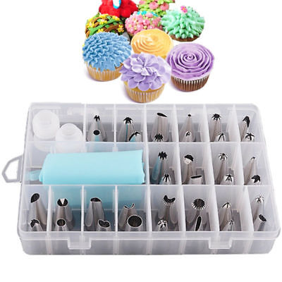 24X DIY Russian Icing Piping Nozzle Wedding Cake Flower Decor Tips Tools Party