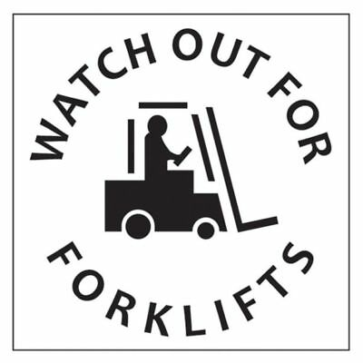 "Dy-Mark ""WATCH OUT FOR FORKLIFTS"" SAFETY STENCIL 445x445mm *Australian Brand"