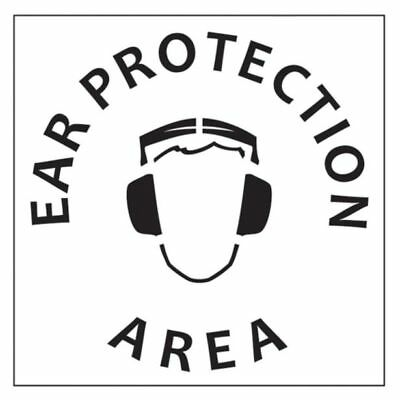 "Dy-Mark ""EAR PROTECTION AREA"" SAFETY STENCIL 445x445mm Hardwearing *Aust Brand"