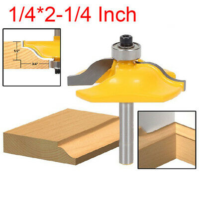 """Ogee Bead Raised Panel Router Bit - 1/4"""" Shank - For Woodworking"""