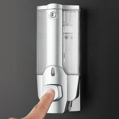 350ml Wall Mount Soap Sanitizer Shower Manual Shampoo Dispenser With Lock A%