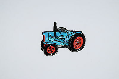 Fordson Major Tractor Pin Badge Gift Novelty Blue Farming Enamel Metal Favours