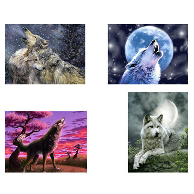 KE_ Paint By Number Kit DIY Acrylic Oil Painting On Canvas Wolf Art Home Decor