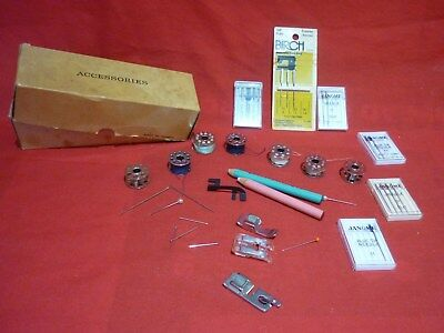Janome Sewing Machine Accesories Needles Spools And More In Box