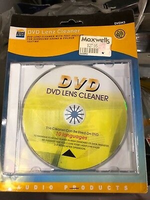 DVD / CD Laser Lens Cleaner Disc - Micro Fibre Brushes Voice + Music