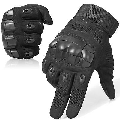 Touch Screen Motorcycle Hard Knuckle Full Finger Gloves Tactical Driving Biker