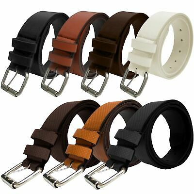 "Kruze Designer New Mens PU Leather Buckle Belt For Jeans Belts All Waist 32""-60"""