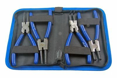 "US PRO Tools 4pc 6"" Circlip Pliers, Plier Set In Zip Pouch NEW 2059"
