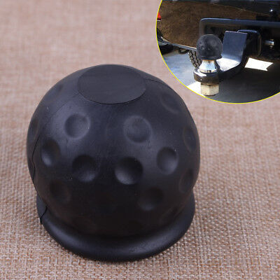 50mm Tow Bar Ball Cover Cap Towing Hitch Caravan Trailer Protect Black