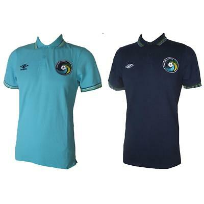 New York Cosmos Umbro Polo Shirt Light Dark Blue Retro Football Jersey S-XXL