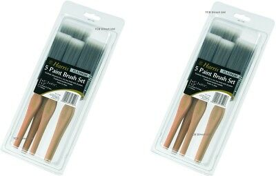2 x Harris Paint Brush Set of 5 Platinum Contractor Paint Brushes Wooden Handle