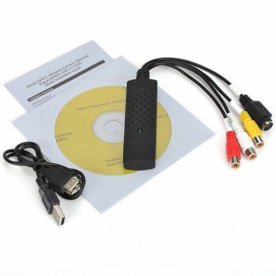 USB 2.0 TV STB VCR VCD DVD Camera Analog Video Audio Capture Grabber to PC