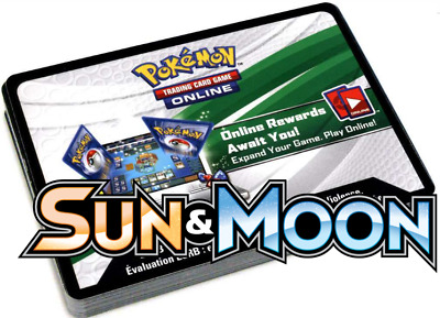 Sun And Moon Base Codes x 50 Pokemon TCG Online PTCGO SEND IN GAME FAST!!