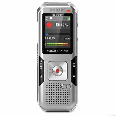 """DVT4010 Philips Voice Tracer Audio Recorder - 8 GBmicroSD Supported - 1.8"""" LCD"""
