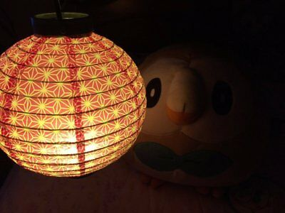 Japanese Paper Lantern CHOTIN  LED Lamp Flower Purple etc 6TYPE Ship from Japan